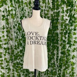 Chaser Love Cocktails & Dreams Tank Size S